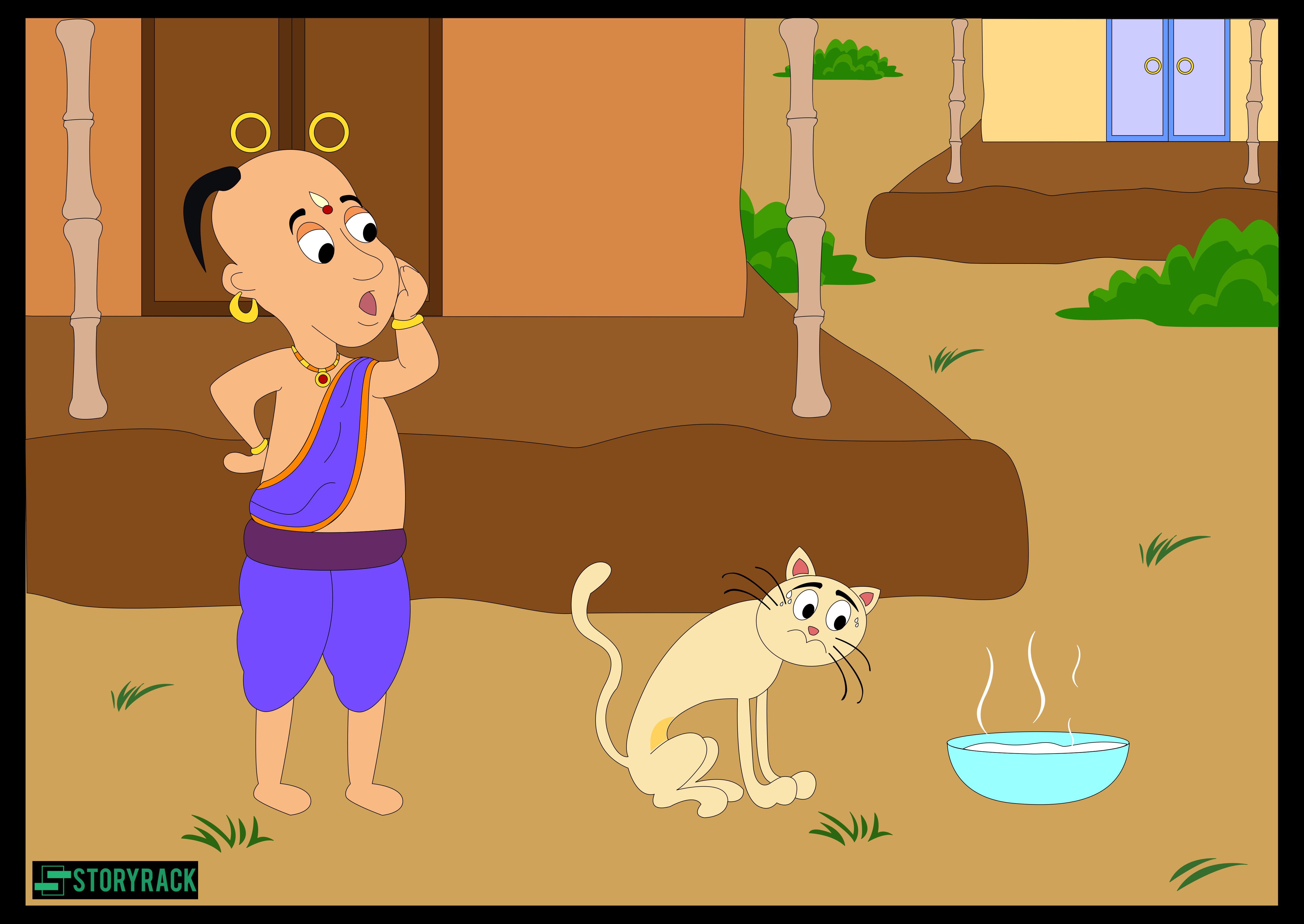 Tenali and his Cat
